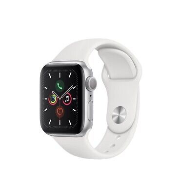 Apple Watch Series 5 (GPS)40mm Silver Aluminum Case with White...