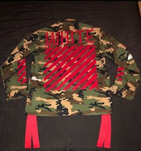 Off-White c/o Virgil Abloh Military Camouflage Print Jacket
