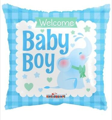 Welcome Baby Boy Blue Elephant 18