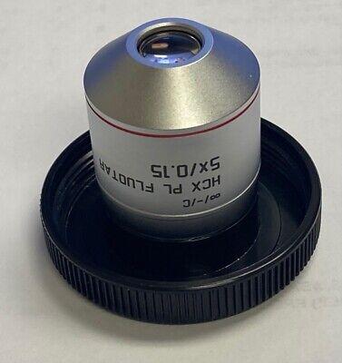 Leica Hcx Pl Fluotar 5x0.15 -c Microscope Objective Pn 506224 Excellent