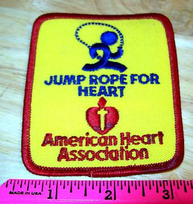 Jump Rope For Heart Embroidered Patch