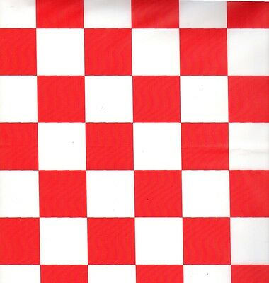 Red and White Checker table cover tablecloth plastic 54 x 108 (2 pieces)
