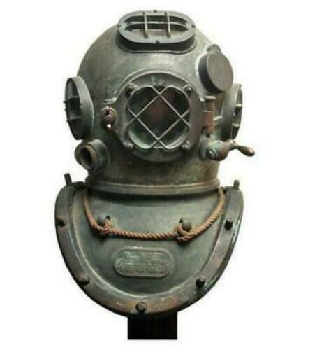 COPPER BOSTON ANTIQUE MORSE BRASS MARK VINTAGE DIVING DIVERS HELMET SCUBA HELMET