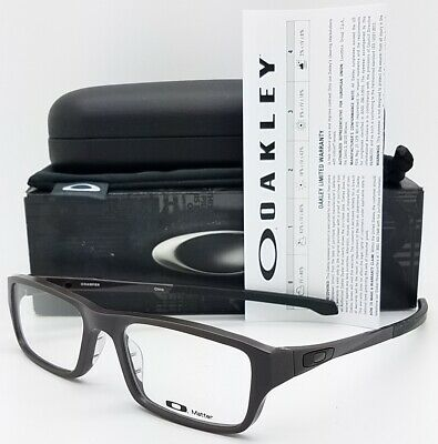 NEW Oakley Chamfer RX Prescription Frame Satin Flint OX8039-0253 53mm AUTHENTIC