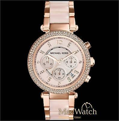 Michael Kors Damen Uhr Parker MK5896 Chronograph Edelstahl, rose NEU OVP