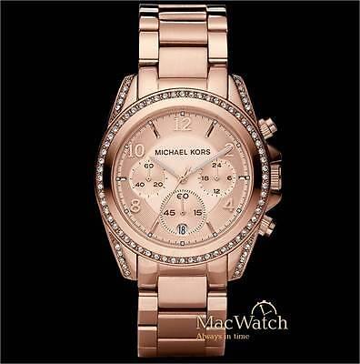 Michael Kors Damen Uhr Blair MK5263 Chronograph Edelstahl, rose NEU