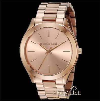 Michael Kors Damen Uhr Slim Runway MK3197 Edelstahl, rose NEU OVP