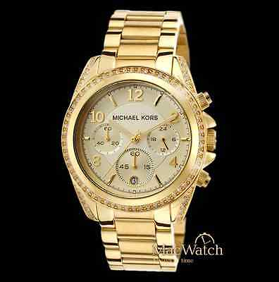 Michael Kors Damen Uhr MK5166 Blair Edelstahl goldfarben NEU