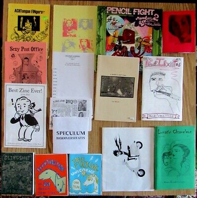 Lot of 16 ZINES 2000-2006 minicomix  personal zines review art writings & more