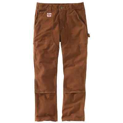CARHARTT HERITAGE FIRM DUCK DOUBLE-FRONT WORK DUNGAREE Made in USA 32/32 red duc