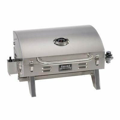 Smoke Hollow 205 Stainless Steel TableTop Propane Gas Grill Great...
