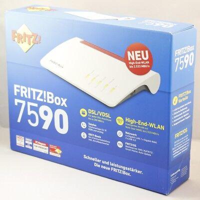 NEU AVM FRITZ!Box 7590 WLAN DECT VDSL Vectoring Modem Router vom Händler #BX