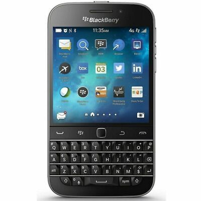 4G LTE BlackBerry Classic Q20 - 16GB AT&T GSM Net10 H20  Black Touch Smartphone
