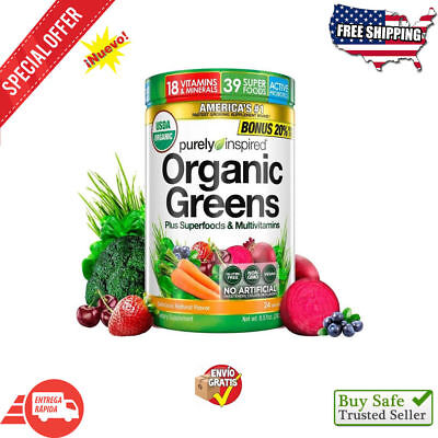 Premium Greens Super Food Powder with Vegan USDA Organic Raw Plant-Based Food
