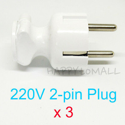 X3- 2Pin AC Power Plug Adapter Socket Outlet for Wires Connecting EU 220V Repair
