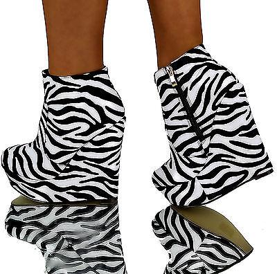 Sexy Boots (Sexy Stiefeletten ZEBRA Luxus High Heels designer boots Party Schuhe)