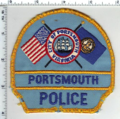 Portsmouth Police (Virginia) Uniform Take-Off Shoulder Patch from the 1980