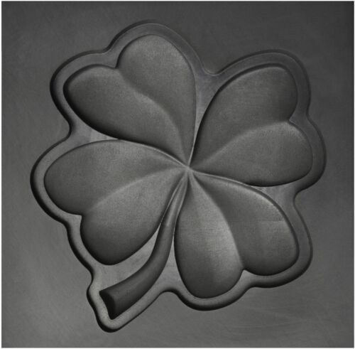 Large - Four Leaf Clover 3D Graphite Ingot Mold Metal Casting Gold Silver Copper