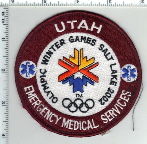Utah 2002 Winter Games Emergency Medical Service Patch from a wall display