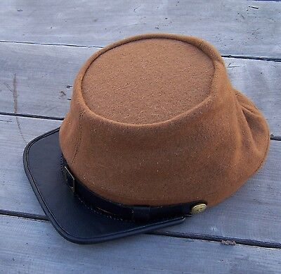 civil war reenactor CSA confederate butternut kepi  Medium