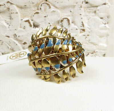 BEAUTIFUL TORY BURCH GOLD FINISHED LEAF AND BRANCH RING SZ 6