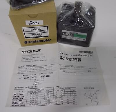 Oriental Motor Gear Head 5gch60kb Nib