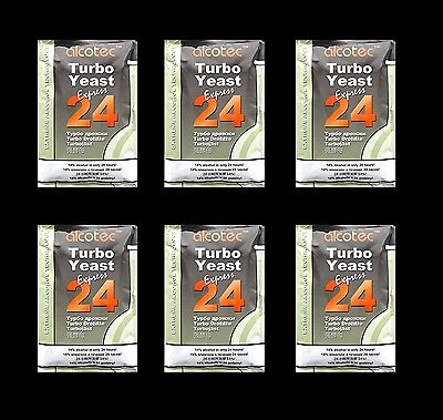 TURBO YEAST 6 PACK 24 HOUR TURBO YEAST ALCOTEC 20% ALCOHOL FOR THE WHISKEY STILL ()