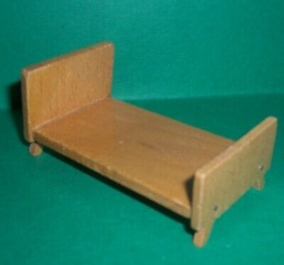 VINTAGE DOLLS HOUSE DOL TOI CONTEMPORARY BED 16th LUNDBY SCALE