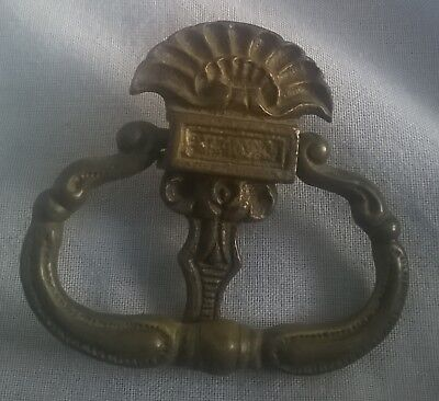 Antique Bronze drop bail drawer pull cabinet swing handle dresser #4267 Antique Bronze Drop Pull