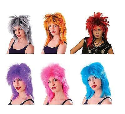 1980s Jahre # Promi Tina Turner alle Farbe Perücken Kostüm Verkleidung Zubehör