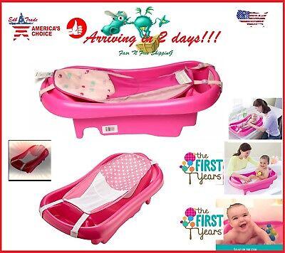 - Baby Infant Bath Tub Safety Pink Seat Bathing Newborn Shower Mesh Sling Toddler