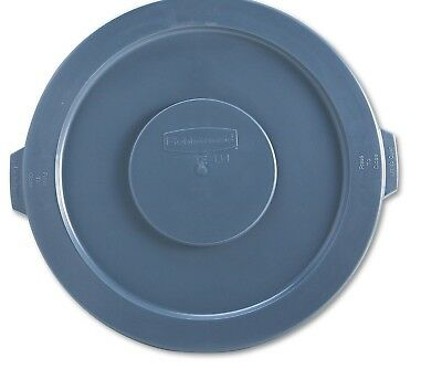 Gallon Brute Round Container Lid - Rubbermaid Commercial Round Flat Top Lid, for 32-Gallon Round Brute Containers,