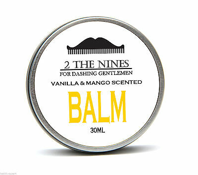 2 The Nines™ Premium Vanilla & Mango Beard Balm Growth Conditioning 30ml Tin