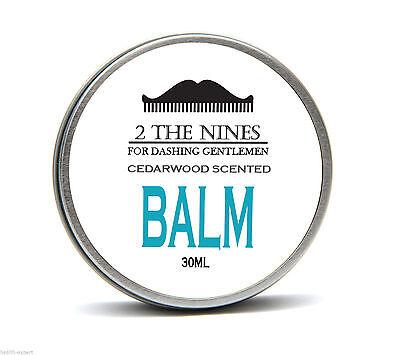 2 The Nines™ Premium Classic Cedarwood Beard Balm Growth Conditioning 30ml Tin