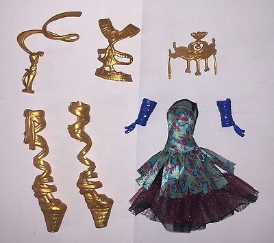 Monster High Ballerina Ghouls Cleo de Nile Doll Outfit Dress & Ballet Shoes NEW](Monster High Cleo Dolls)