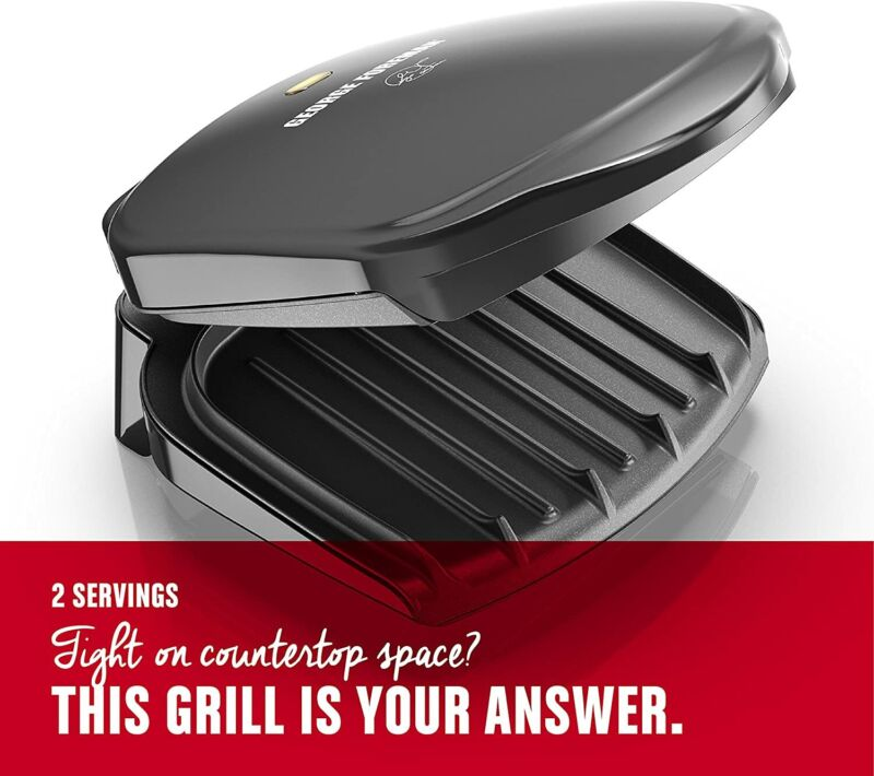 George Foreman 2Serving Classic Plate Electric Indoor Grill