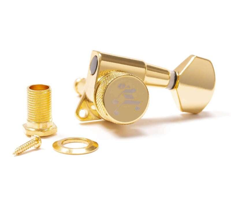 Genuine Tone Ninja 19:1 Locking Tuners, 6 Inline Staggered set, Gold