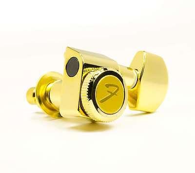 Genuine Fender 099-0818-200 gold locking 2-pin Strat/Tele set of upgrade tuners ()