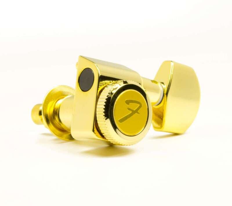 Genuine Fender 099-0818-200 gold locking 2-pin Strat/Tele set of upgrade tuners