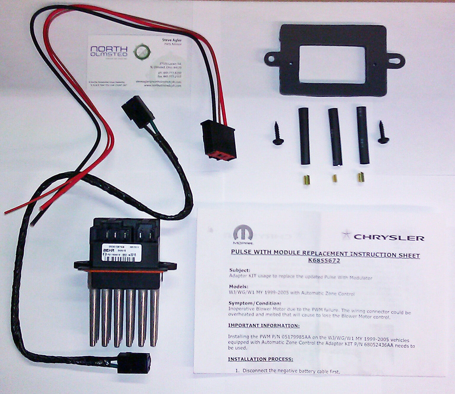 Jeep Xj Blower Motor Wiring Opinions About Diagram New Oem 99 04 Grand Cherokee Wj Resistor Module Ebay 93 2000