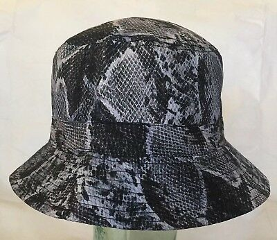 City Hunter USA Snake Print Bucket Hat Polyester BD1750 OSFA NWT