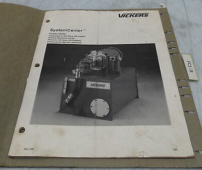 Vickers SystemCenter Power Unit Complete Manual, Rev. 5/95