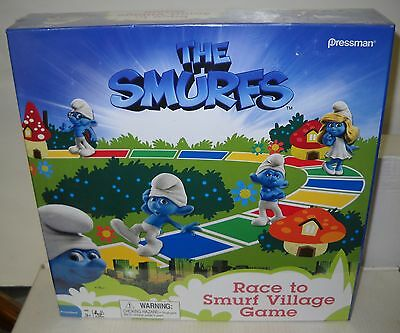 5058 Pressman Smurfs - Race To Smurf's Village Game