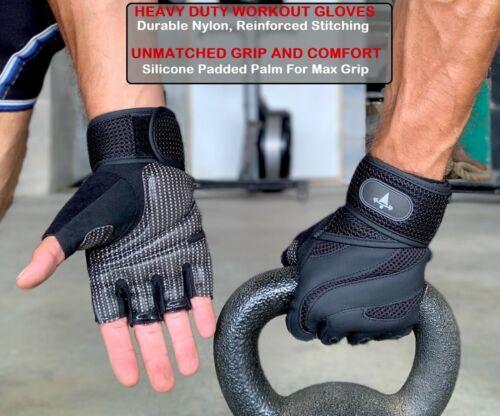 Fitness Gloves Weight Lifting Gym Workout Training Wrist Wrap Strap Men & Women