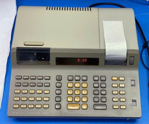 Vintage HP 9815A 9815S programmable calculator w/ manual 1978