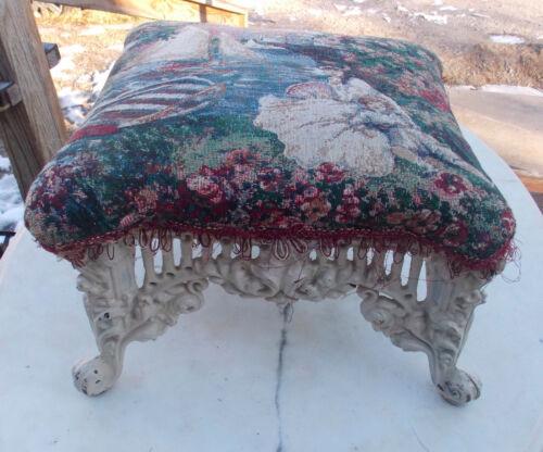 Ornate Iron Footstool / Stool