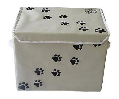 "LARGE Dog Toys Storage Container Box 16"" x 12"" - Feline Ruff. Cat Toy Bin Basket"
