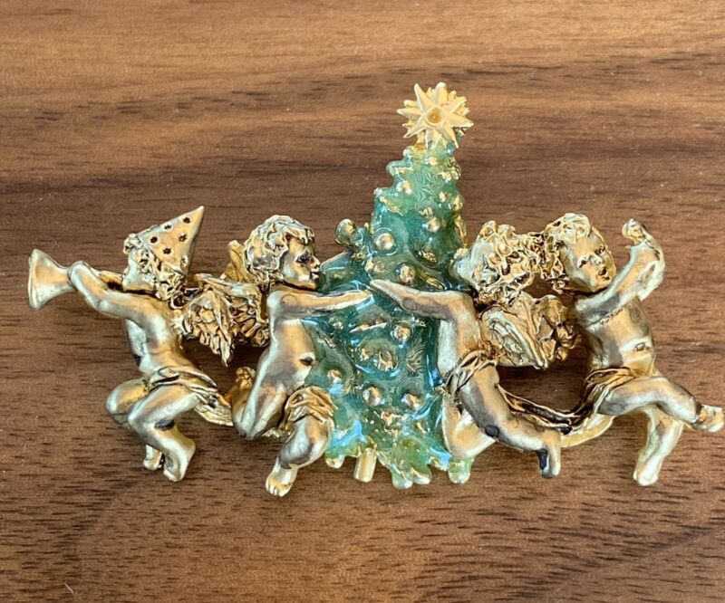 Edgar Berebi All In A row Angels  The Holiday Angels , Christmas Pin Just Found