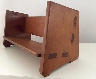 Vintage Desktop Bookcase Wooden Mid Century