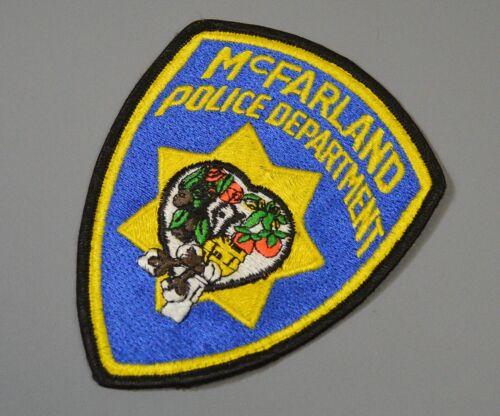 McFarland California Police Patch ++ Kern County CA